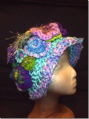 Freeform hat by Nancy Nagle
