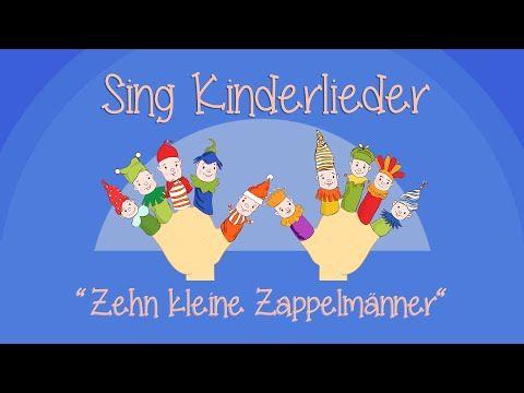 Zehn kleine Zappelmänner - Kinderlieder zum Mitsingen | Sing Kinderlieder - YouTube