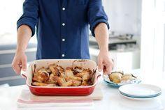 Receta de Alitas de pollo al horno con miel y limón. Un básico para principiantes. Prepara la salsa en Thermomix® y disfruta del sabor.