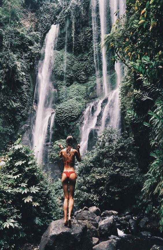 """Sekumpul Waterfall - Bali, Indonesia tinevcb """"This is one of… #waterfalls"""