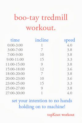 boo-tay tredmill workout. @Steph Vrieze will you do this with me tonight!?