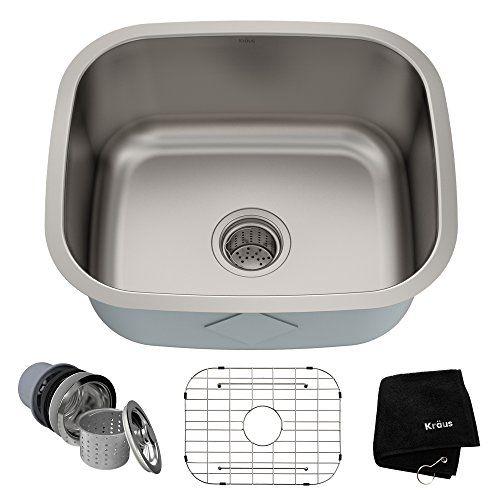 Kraus Kbu11 20 Inch Undermount Single Bowl 16 Gauge Stain Https Www Amazon Com Dp B0042 Single Bowl Kitchen Sink Kitchen Sink Stainless Steel Kitchen Sink