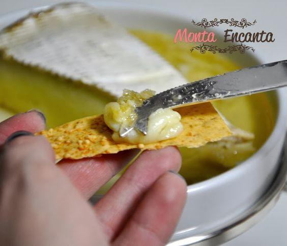 receita de antepasto de queijo Brie e Mel Monta Encanta