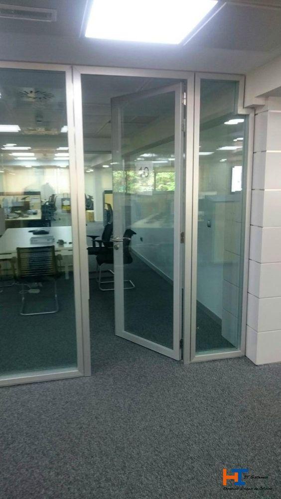Puerta ac stica de it sistemas fabricada con vidrio - Manivela puerta aluminio ...