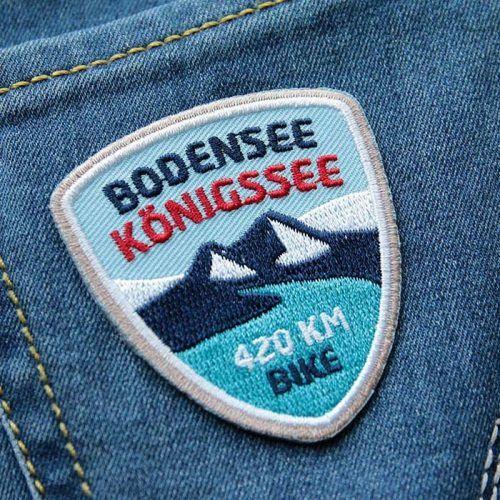 Bodensee Konigssee Radweg Gesticktes Abzeichen Fur Ihre Radtour Zum Konigsee Radweg Radtour Abzeichen