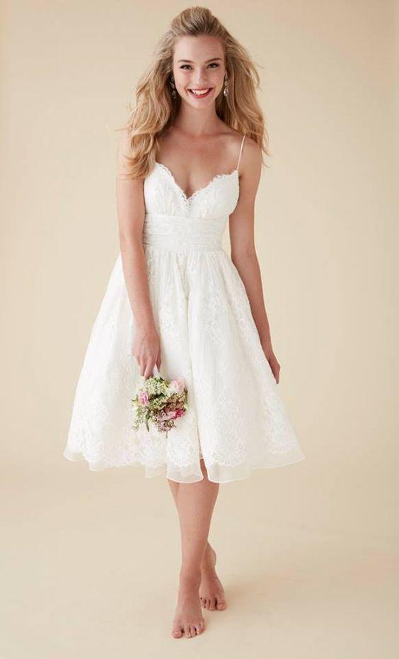 Simple, beach wedding dress: