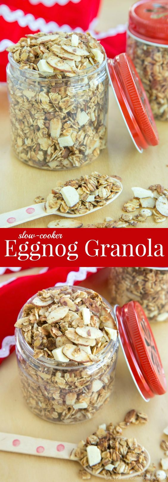Cooker Eggnog Granola - with hints of nutmeg, cinnamon, and nutmeg ...