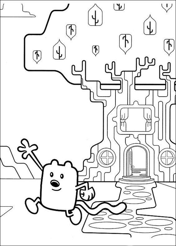 Dibujos para Colorear Wow Wow Wubbzy 13