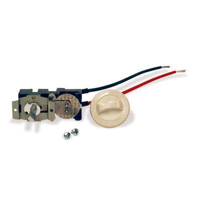 Cadet Com-Pak Plus Series Double Pole Thermostat Kit Color: Almond CTT2A