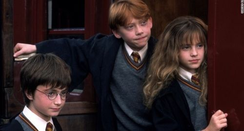 harry potter, hermione granger, and ron weasley
