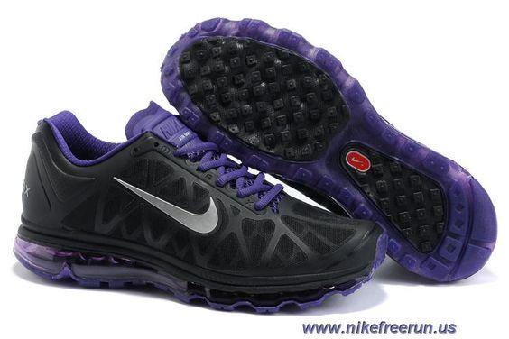 Discounts Womens Nike Air Max 2011 Black/Platinum/Bright Violet/White Sneakers