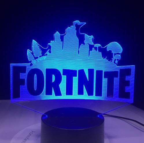 Fort Nite Game Logo 3d Led Lamp Light Rgbw Changeable Mood Lamp 7 Colors Light Base Cool Night Light For Birthday Mood Lamps Night Light Kids Night Light Lamp