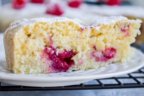 This cake is vegan, meaning it's gluten and dairy free. But it is MOIST, and full of delicious raspberry buttermilk flavor, and has a great texture.