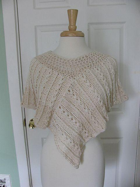 Ravelry: Twisted Rib Asymmetrical Ponchette pattern by The Knit Knot knitti...