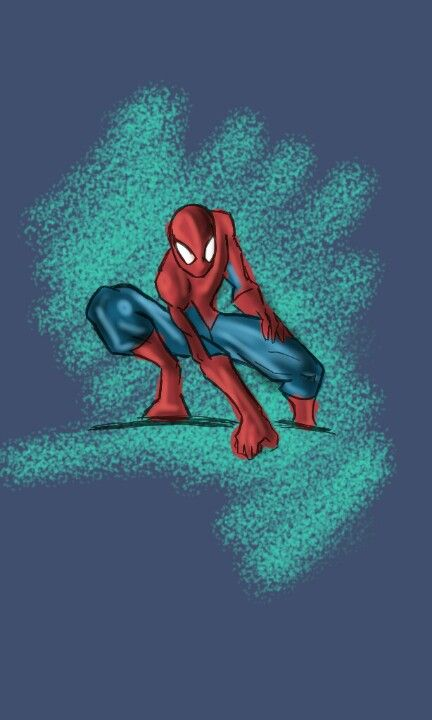 My drawing spider man