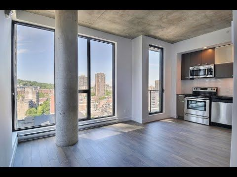 375 De La Concorde 1 Bedroom For Rent In Downtown Montreal 3 5 Condo A Louer Au Centre Ville Downtown Apartment Condos For Rent Renting A House