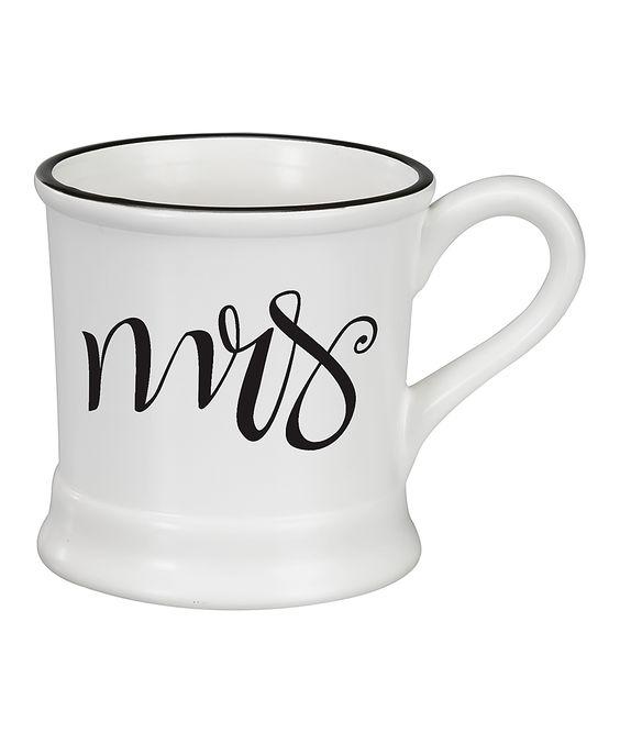 White 'Mrs.' Ceramic Mug