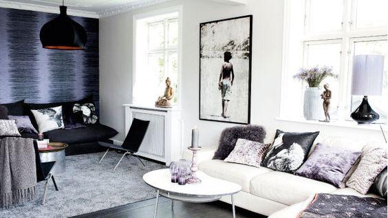 Living room. Like the white vs black