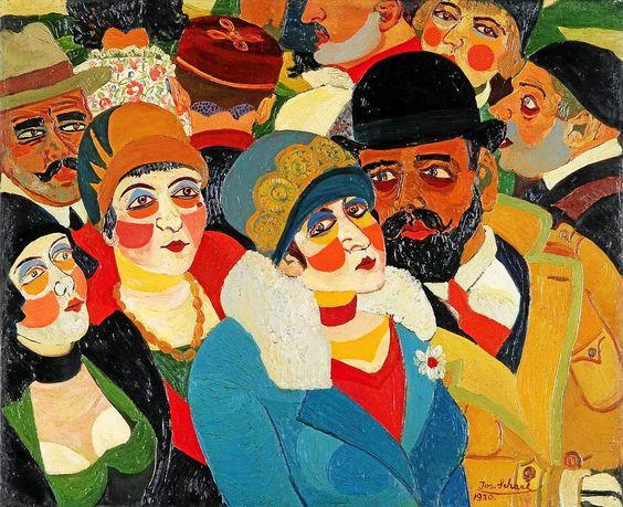 Die Pariser Straßenszene (1930) von Josef Scharl ziert auch das Ausstellungsplakat