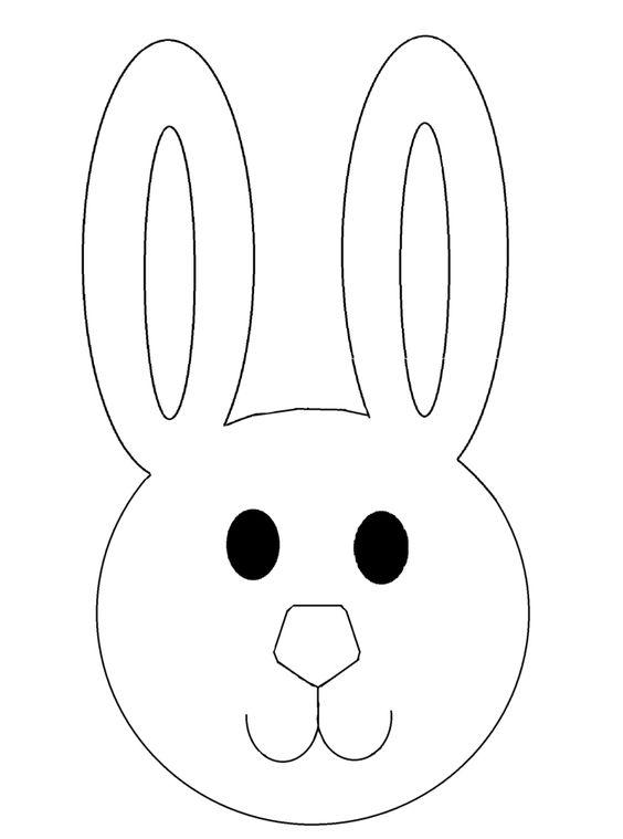 Osterhase Kindermaske Vorlage Zum Ausschneiden Vorlage Osterhase Ostern Basteln Mit Kindern Malvorlagen Ostern
