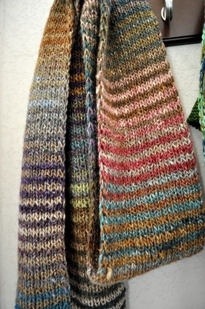 Brooklyn Tweed Noro striped scarf.