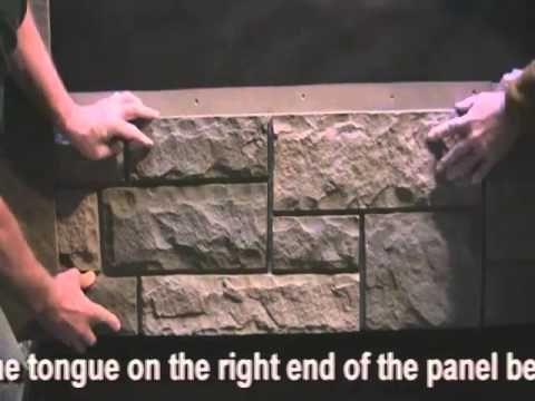 How to Install Windsor Simulated Stone Panels - FauxPanels.com™ - YouTube