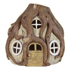 Solar Tree Root House Statue