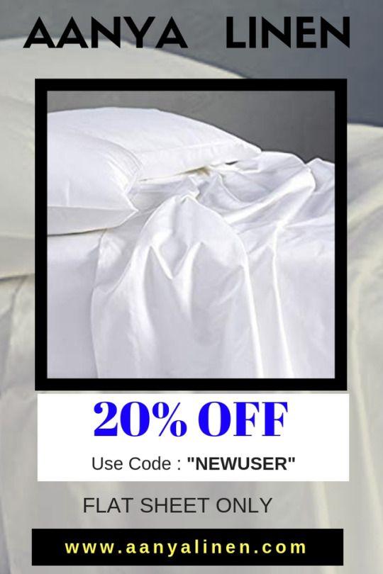 Flat Sheet S Of Aanyalinen Com At Discount Of 20 Using Coupon Code Newuser Amazone Bedbathandbeyond Ebay Cheap Flat Sheets Flat Sheets Bed Sets For Sale