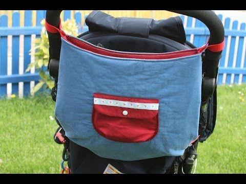 ▶ Kinderwagentasche nähen mit kostenlosem Schnittmuster - YouTube