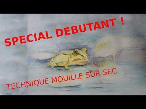 Aquarelle Debutant Technique Mouille Sur Sec Pour Portrait