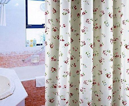 S ZONE Rural Flower Water Proof Mildew Proof Bathroom Polyester Fabric Shower  Curtain 72x78 Inch