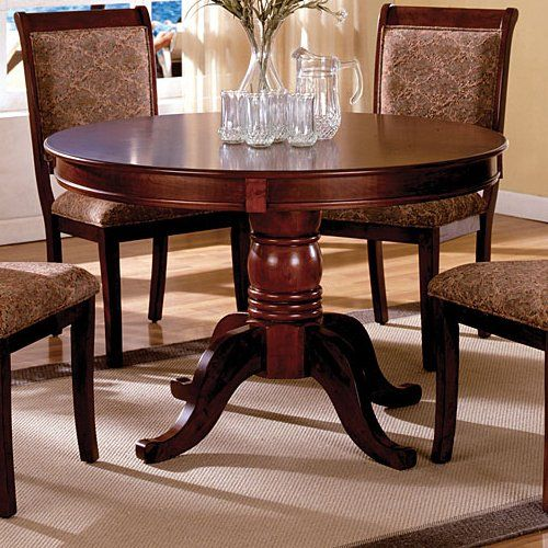 Agosto Saints Round Pedestal Dining Table Tables Dining Tables
