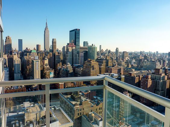 Balcony view of a new york city apartment for rent in for New york balcony