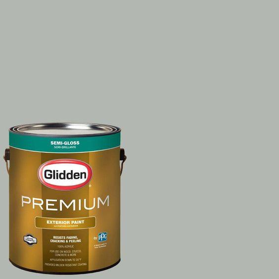 Glidden Premium 1-gal. #HDGCN11 Dusty Miller Semi-Gloss Latex Exterior Paint