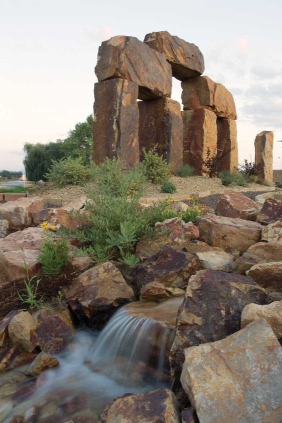"The Rock Garden, a natural stone showcase garden in Fort Collins, Colorado, is  known as ""Colorado's Stonehenge."""