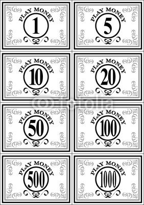 Free Printable Play Money | Play Money | Money, Budget Ideas ...