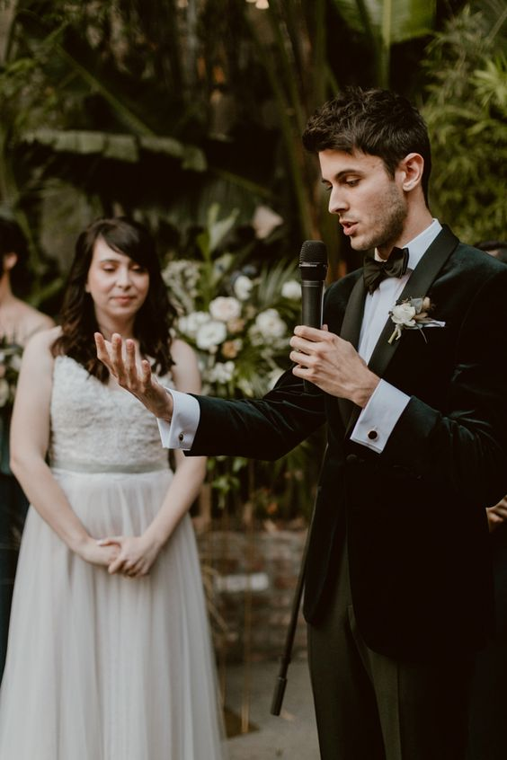 Get Your Modern Greenery Inspiration from This Chic Los Angeles Millwick Wedding | Junebug Weddings