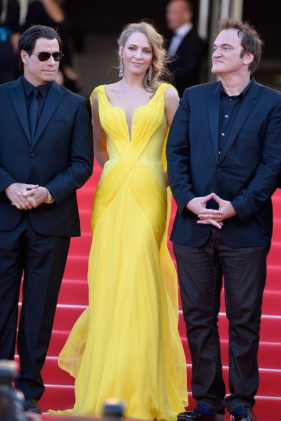 John Travolta, Uma Thurman y Quentin Tarantino