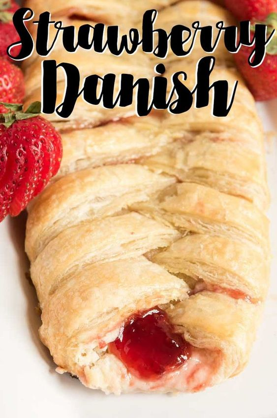 It's easy to make this delicious 30 minute Strawberry Cream Cheese Danish recipe at home!