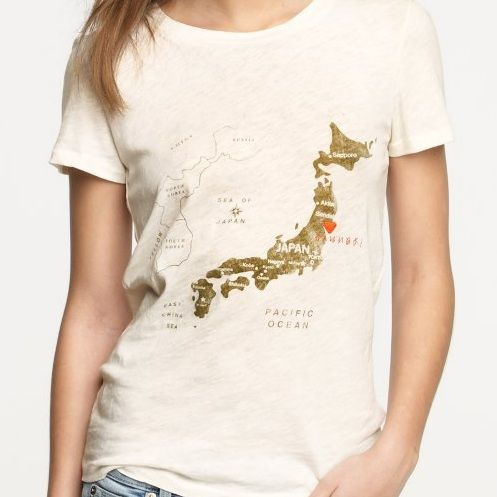 In my closet- Japan tsunami relief tee from J. Crew.