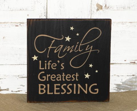 I have painted this sign in black with tan lettering and ivory stars. I will come with black underneath the topcoat and will be distressed all over. If you are ordering it in a color other than black it will have black underneath the topcoat for more of a primitive look. This is a nice accent for any country and primitive décor. It can be used as a shelf sitter with a grouping, used with a easel or can be hung on the wall. Measures approx. 9.5 x 9.5