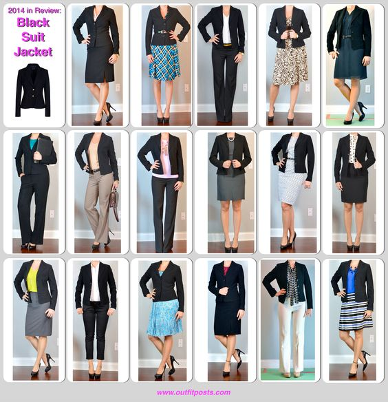 Outfit Posts: 2014 in review - outfit posts: black suit jacket - 17 ways