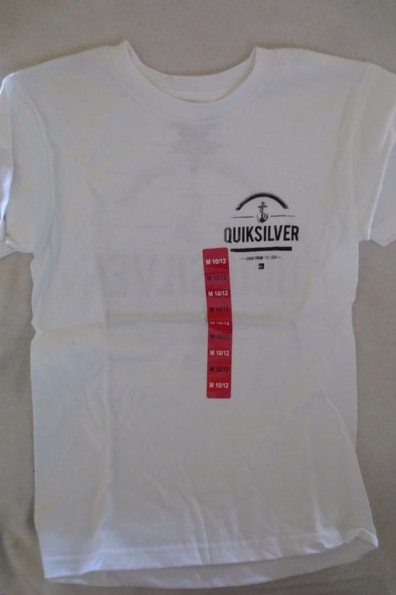 New Youth Boy T-Shirt Quiksilver  White Size M 10/12 New  #Quiksilver #Everyday