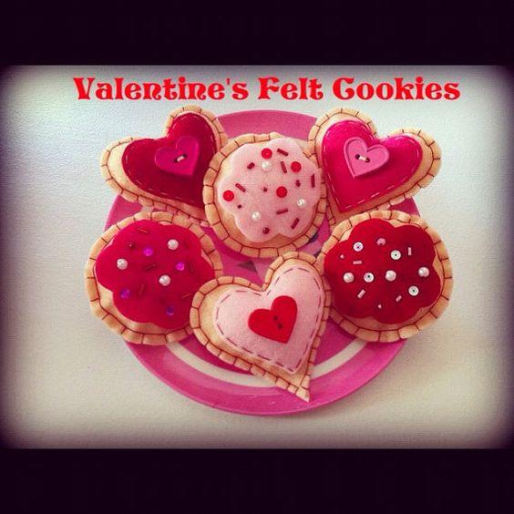 I Heart U Valentines Eco Friendly Felt by buttercreamforest, $12.00