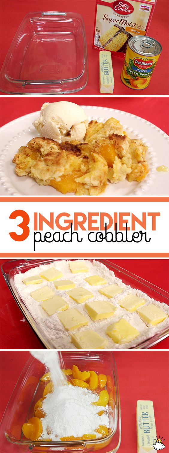 Learn how to make delicious 3-ingredient peach cobbler with just cake mix…