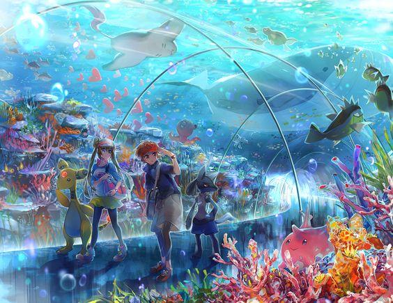 Beautiful Pokemon Art Images | Pokemon Images Wailord And Quagsire