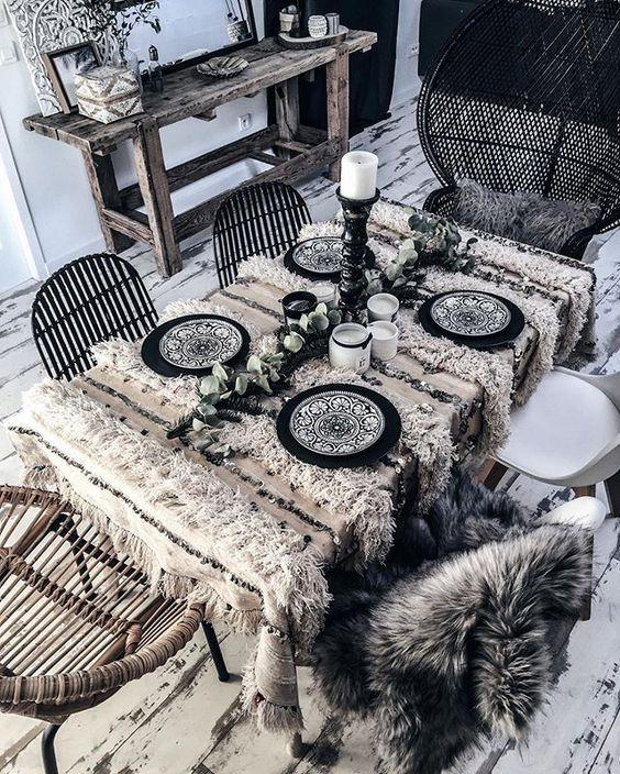Table de style bohème, berbère #home #decoration #handira #inlove #boheme #berbere