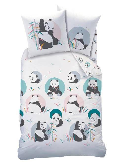 Parure De Lit 1 Personne Imprime Panda Linge De Lit Blanc Rose A 27 00 Decouvrez Nos Collections Mode A Petits Prix Bedding Sets Projects Projects To Try
