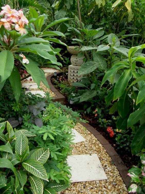 36 Rock Pathway Design Ideas To A Beautiful Your Garden Tropical