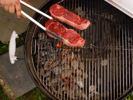Sear Steaks Over Hot Coals for Grill Marks